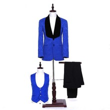 Wholesale Office Baba Tuxedo Coat Pant Men 3 Piece Suit for Wedding
