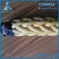 8 strand rope Polyester & Polypropylene mixed rope for shipping