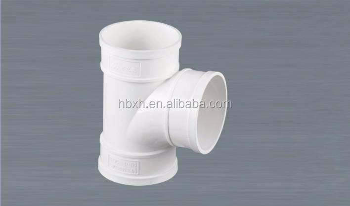 good flexibility PVC pipe joints price for water saving irrigation