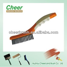 standard stainless steel wire brush of function with professional brand cheerbrush