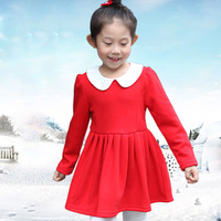 Kids Winter Clothes From Korea Dresses For Little Princesses Baby Cotton Frock Design For 3 Years Old Girl Wear