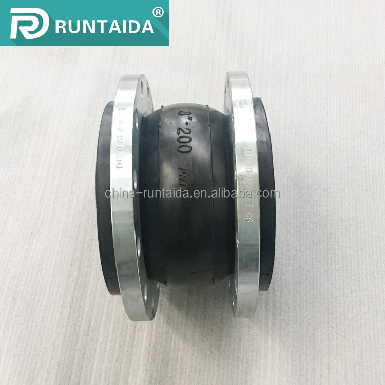 Zero pollution single sphere epdm duct iron flexible rubber expansion joints