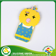 Embossed and printed animal silicone phone case