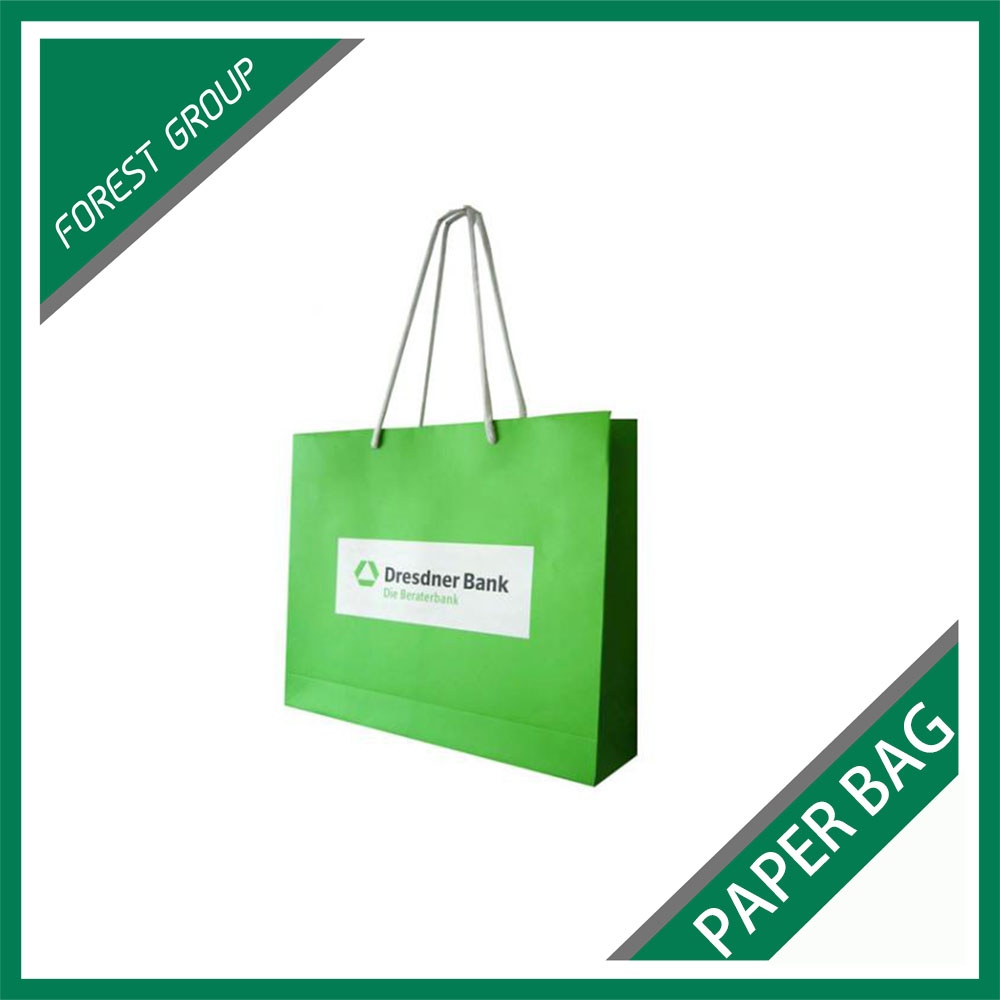 ART PAPER CUSTOM MADE SUIT PACKAGING PAPER BAGS WITH COTTON ROPES
