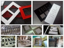 Liquid glass switch plates Color printed glass modular switch panel