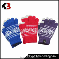Wholesale custom cotton knit gloves ,touch screen gloves for winter knitted half-finger gloves