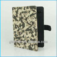 "Gray camouflage smart 9"" 10"" universal pc leather case cover"