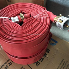 High pressure red color 4 inch PVC layflat soft flexible water irrigation hose