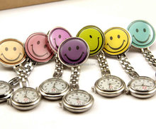 High quality Nurse pocket watches smile watches multicolors