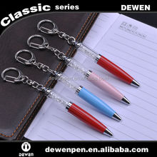 High quality heavy promotional keychain metal ball pen with rope