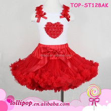 First Birthday Tutu Girls 1st Birthday Outfit Little Girl 4th Of July Smocked Heart Extra Fluffy Pettiskirt Dancing Outfit