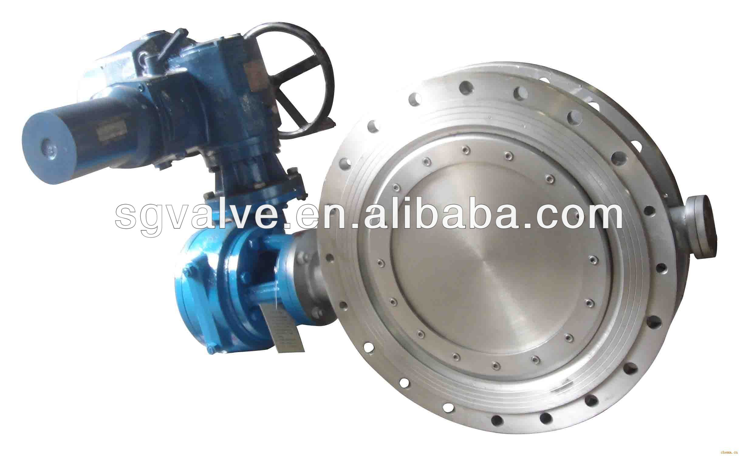 Double Flange Metal Seat Butterfly Valve Gear Operation