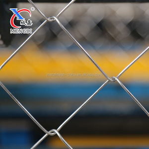 "1""-4""Aperture and Galvanized Iron Wire Material 9 gauge chain link fence fabric"
