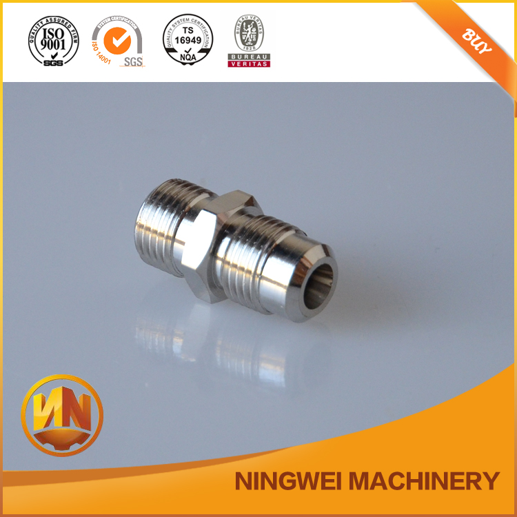 2016 china supplier of high precision cnc machining parts stainless steel metal connectors