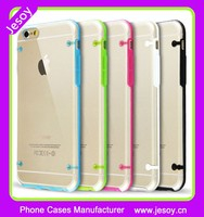 JESOY Colorful Transparent clear Flash Light Soft TPU LED Cell Phone Case For iphone 6 7
