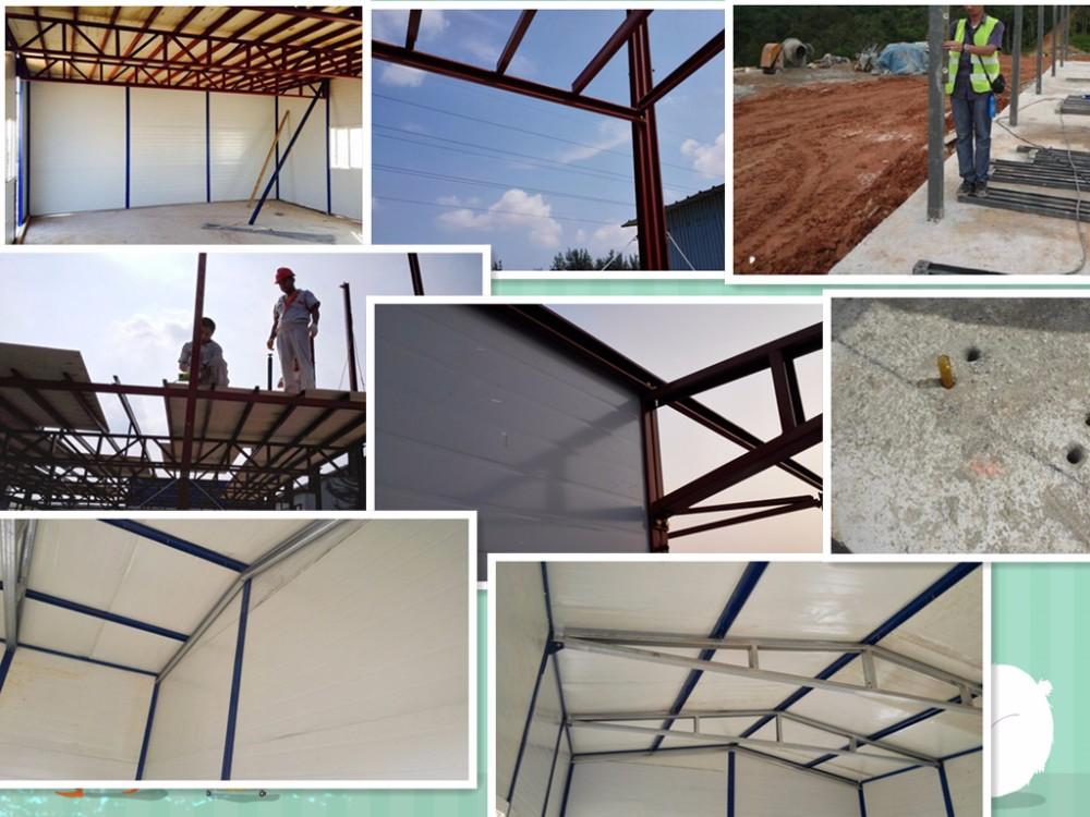 Nieuwe ontwerp klare stalen structuur goedkope geprefabriceerde huis voor kits prefab huizen - Nieuwe ontwerpmuur ...