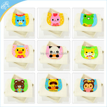 100 Cotton Muslin Soft Breathable Infant Bath Towel Baby Saliva Bibs With Animal Pads