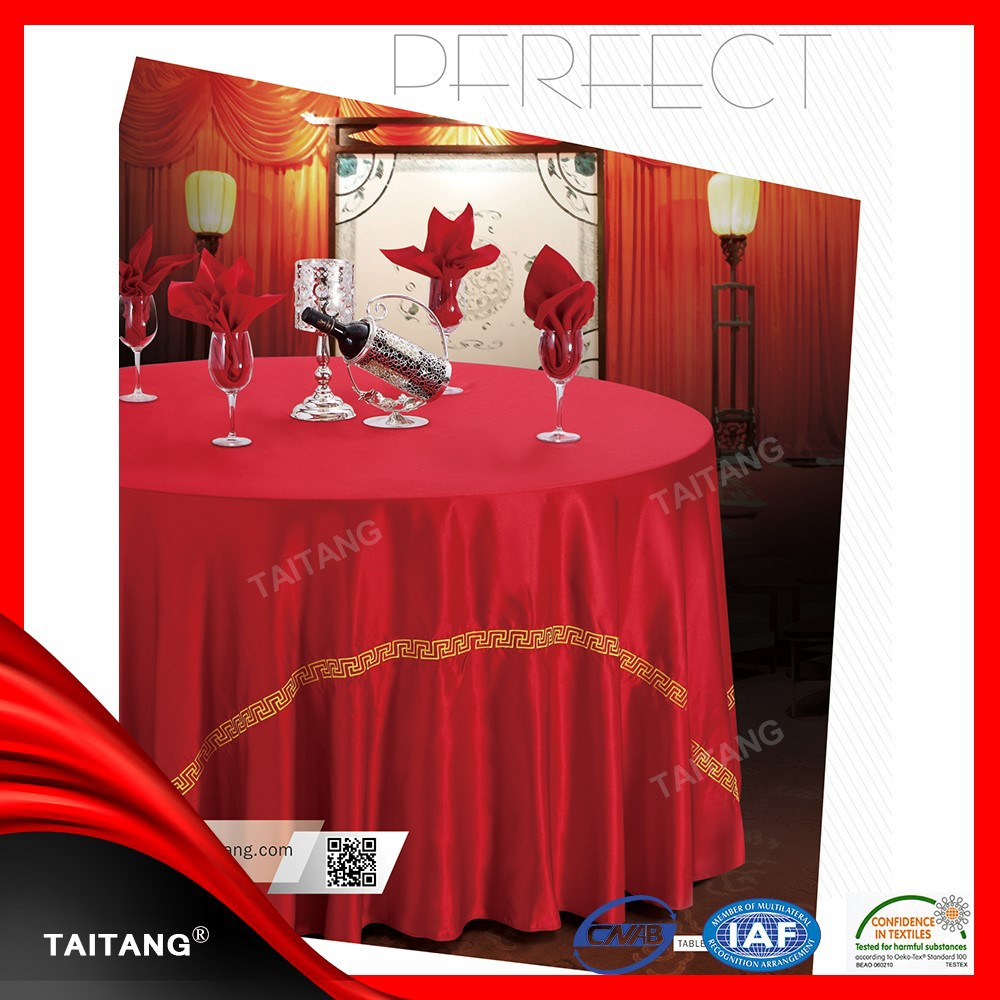 Hot Sale factory price table cover high top cocktail table cover
