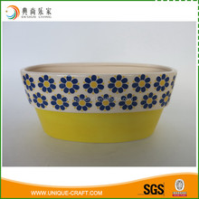 Balcony Ornaments Rectangle Shape Ceramic Garden Planter