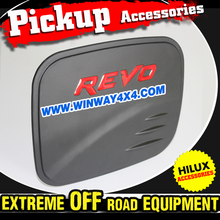 2015 Pickup Truck Accessories Matte Black Fuel Tank Cover For 2015 Hilux Revo