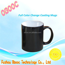 Wholesale sublimation blank color change ceramic mug