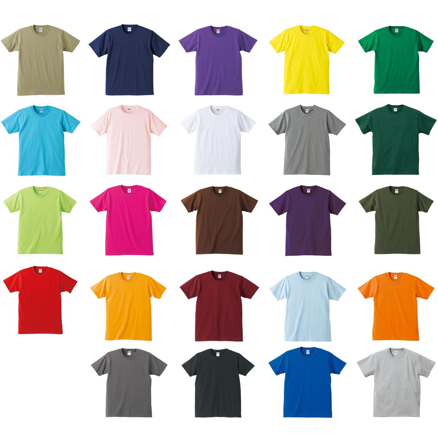 Round Neck Color T-shirts