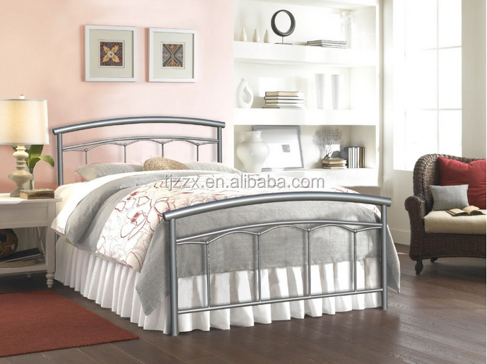 Modern bedrooms cheap metal Iron double single bed