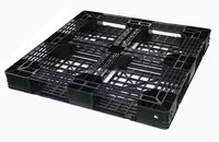 Euro Recycled Disposable logistic packing black plastic pallet