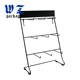 Custom Cosmetic Metal Display Stand Black Metal Rack Display With Hanging Hooks