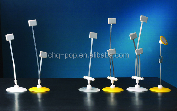 Retail Promotion Pop Wobbler Display with Adhesive Base