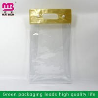 durable & reusable plastic pvc card bag for packing work permit