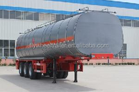China new asphalt transport tank truck semi trailer