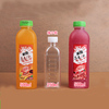 Wholesale french square glass bottle beverage bottles with plastic cap 100ml 250ml