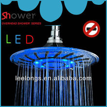 Leelongs Blue Color 8 inch LED Big Rain Shower Head