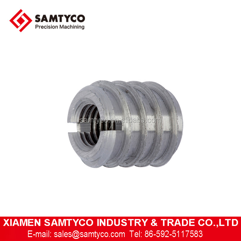 Customized CNC Machined Stainless Steel Aluminum Threaded Sleeve Couplings With Good Quality