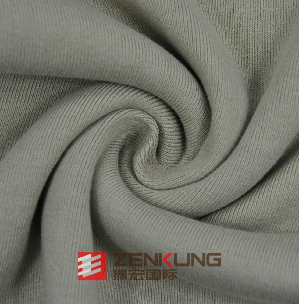 knit Polyester(dacron) 1*1Rib heavy weight fabric 420 GSM