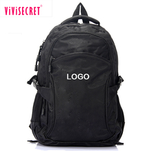 New hot sale designs black laptop mochila camping sport nylon material school bag gentle backpack