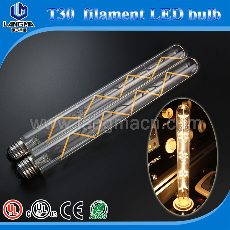 E26/E27/B22 360 degree led filament light 2700K bulbs T30 E27 110-240V edison led medium tube patriot lighting alibaba