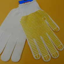 PVC Dots coated nylon knitted hand gloves safety work gloves
