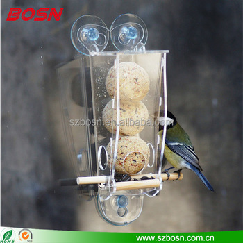Simple type window bird feeder acrylic
