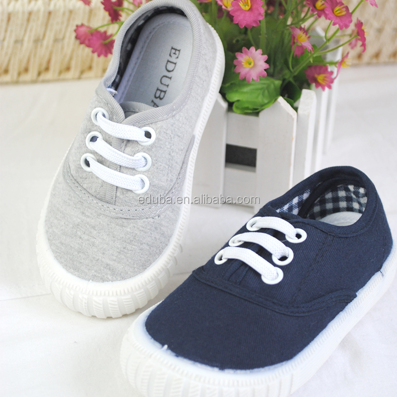 2017 China factory rubber sole kids sneaker canvas shoes wholesale