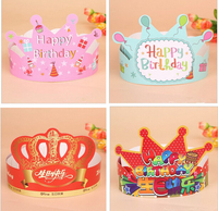 Wholesales 2016 birthday prince paper crowns for kids