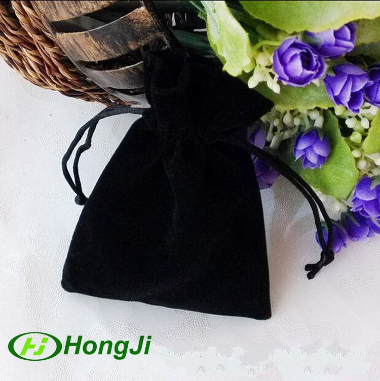 Custom Pouch For Souvenir Coin Pendant Packaging Black Velvet Bag