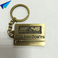 Hot selling metal promotional keychains /key fobs wholesale
