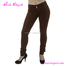 2017 Brown Sex Lady Jeans Sex Women Jeans Yoga Pants Pictures