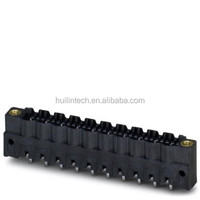 PHOENIX vertical to the pcb black male plug terminal block with screw flange