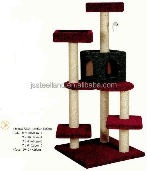 wooden materail pet products Cat tree & cat scratching tree & cat tree house
