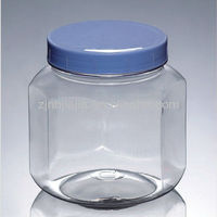 Large Octagon PET Plastic Jar Container For Candy