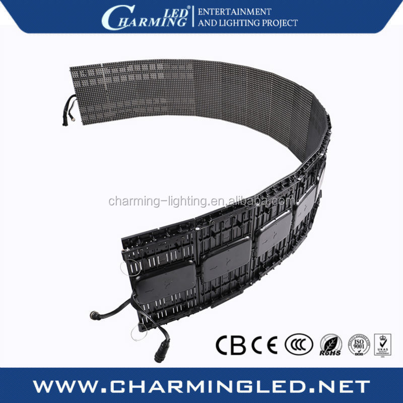 P9.375 flexible led oled curtain display for stage backdrops