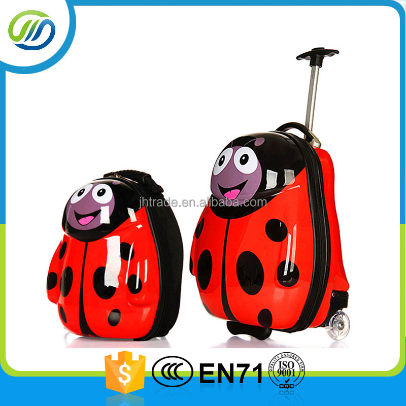 ABS film coated hard case children travel luggage trolley bag